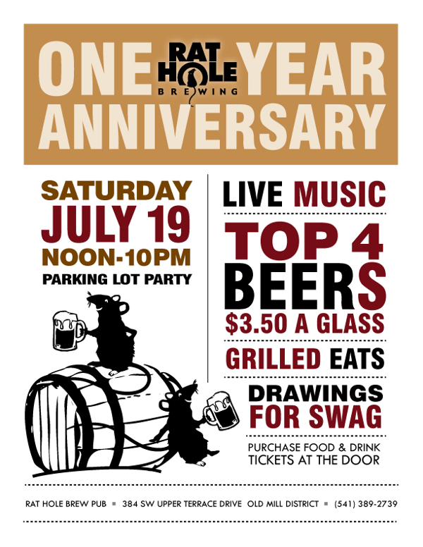 Rat Hole Brewing first anniversary